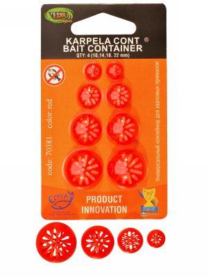 """Универсальный контейнер """"Karpela Cont"""" 10,14,18,20мм 4ШТ/УП КРАСНЫЙ"""
