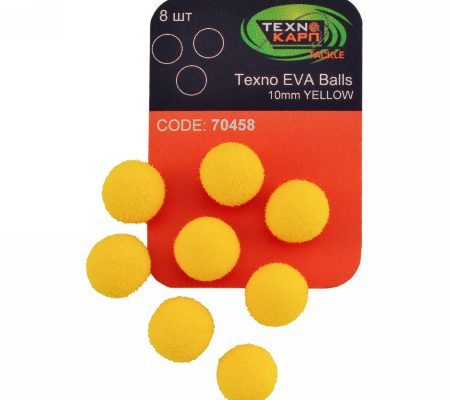 Texno EVA Balls 10mm yellow уп/8шт