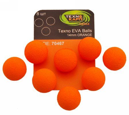 Texno EVA Balls 14mm orange уп/8шт